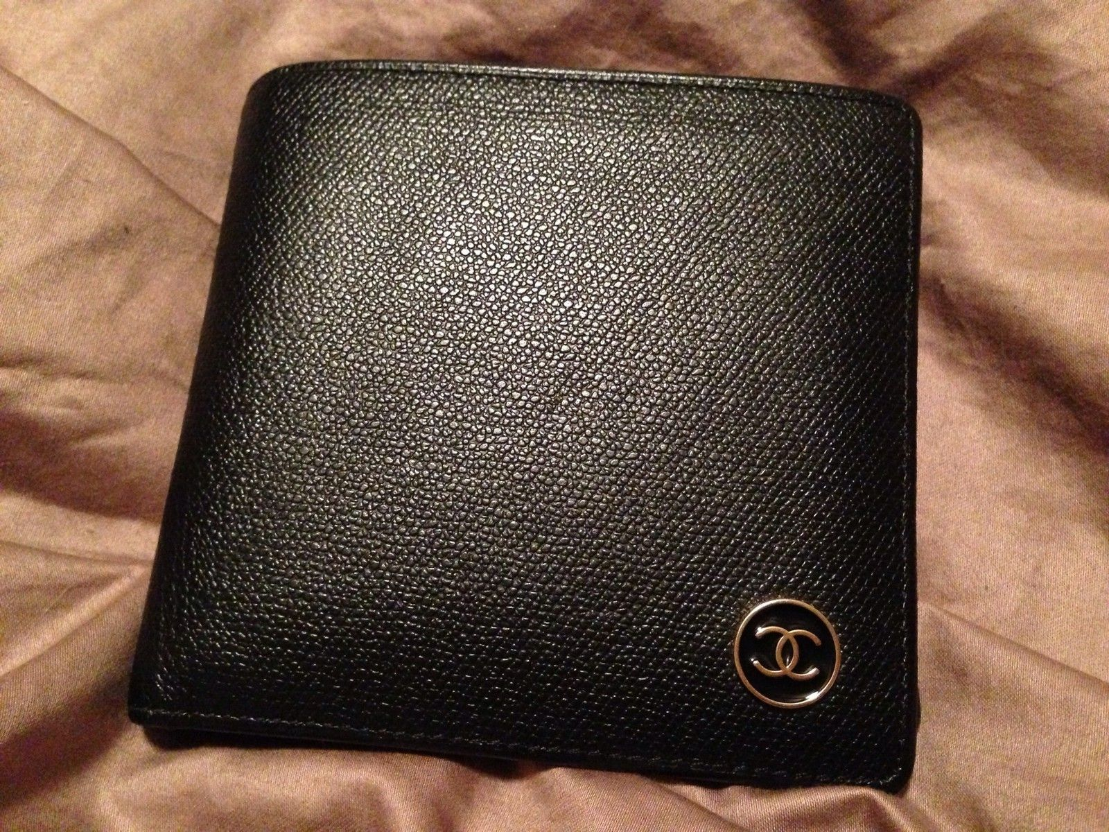 434fce2af9915e Chanel Wallet (Black Leather, Men's Pre-owned Designer Wallets ...