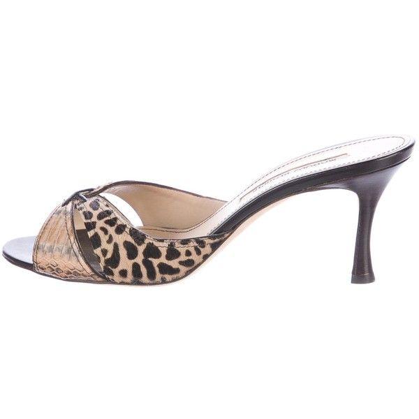 For Cheap Pre-owned - Python heels Manolo Blahnik Sale Largest Supplier Cheap Sale Real Footlocker Finishline Cheap Online Official For Sale Qzu7e