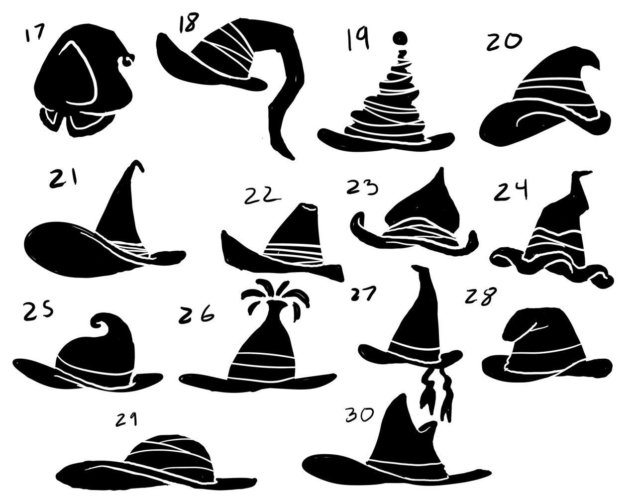 Eri Kawakami More Silhouettes For A Total Of 491 Yeesh So Witch Drawing Hat Drawing Witch Drawing Reference