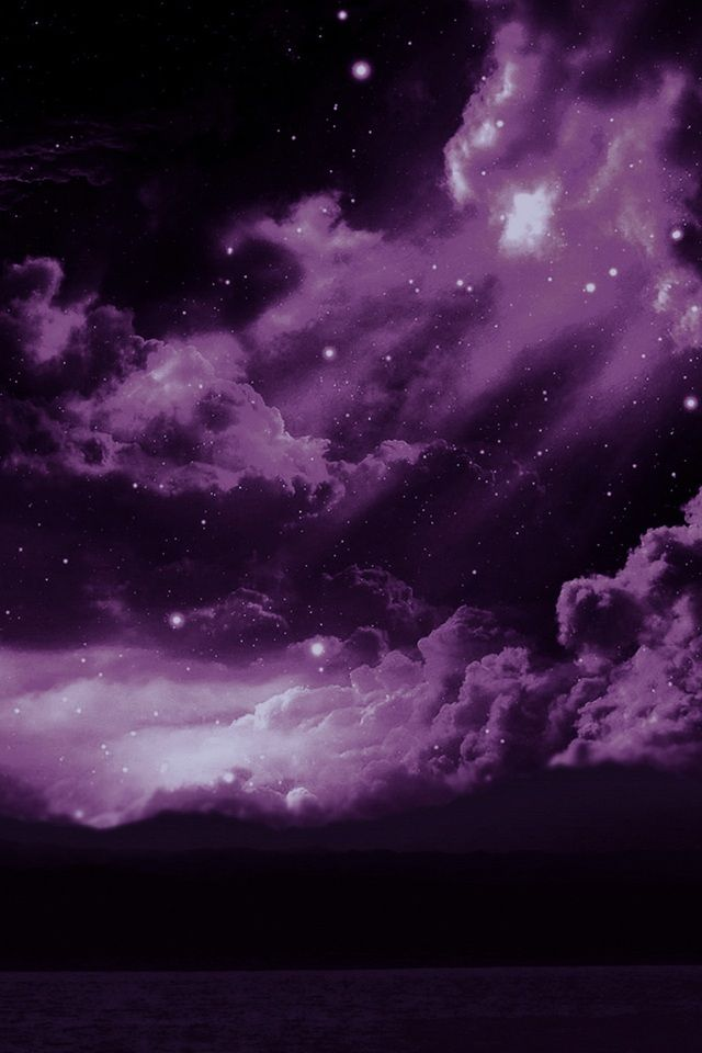 Purple Sky The Purple Sky Iphone Wallpaper Purple