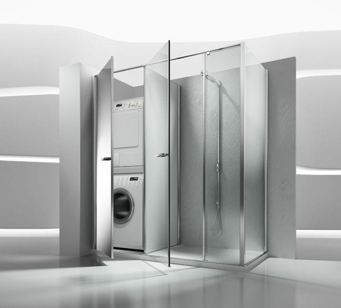 Twin de vismaravetro la cabine douche et armoire - Meuble salle de bain avec emplacement machine a laver ...