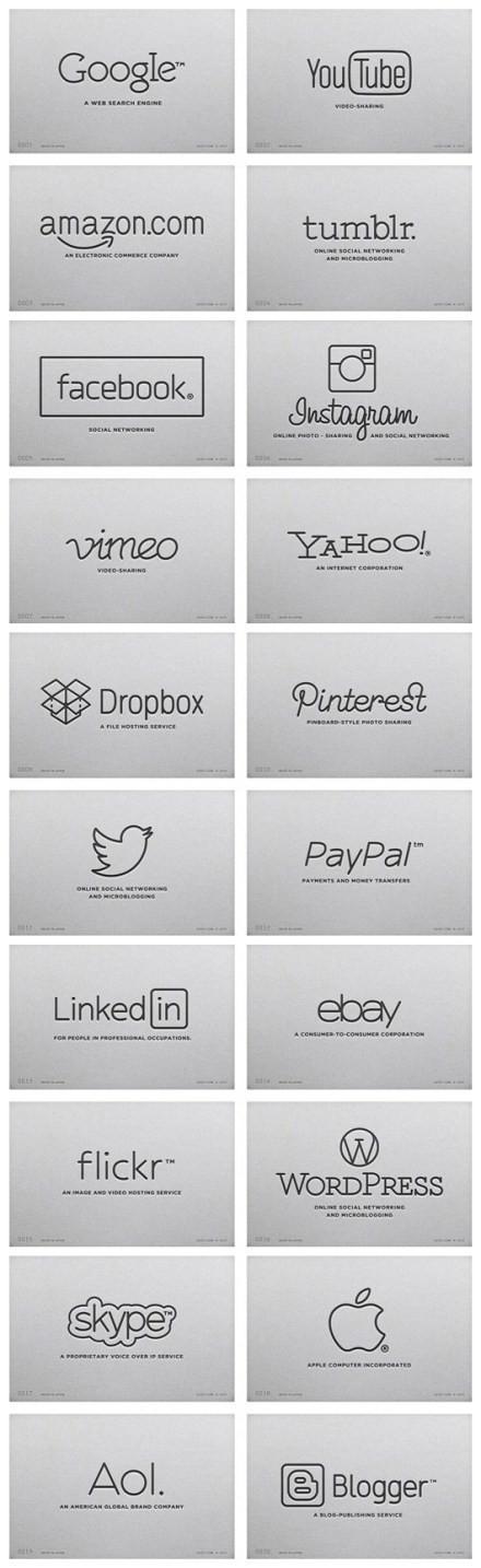 日本Mehmet Gozetlik公司設計師為各大公司的logo統一了風格。