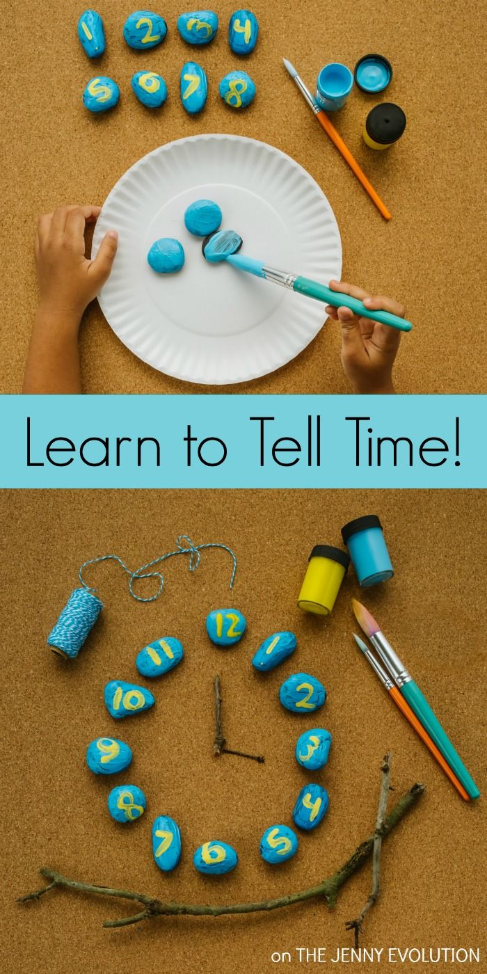 Learning To Tell Time Has Never Been So Much Fun! Fun craft project and additional learn to tell time ideas!