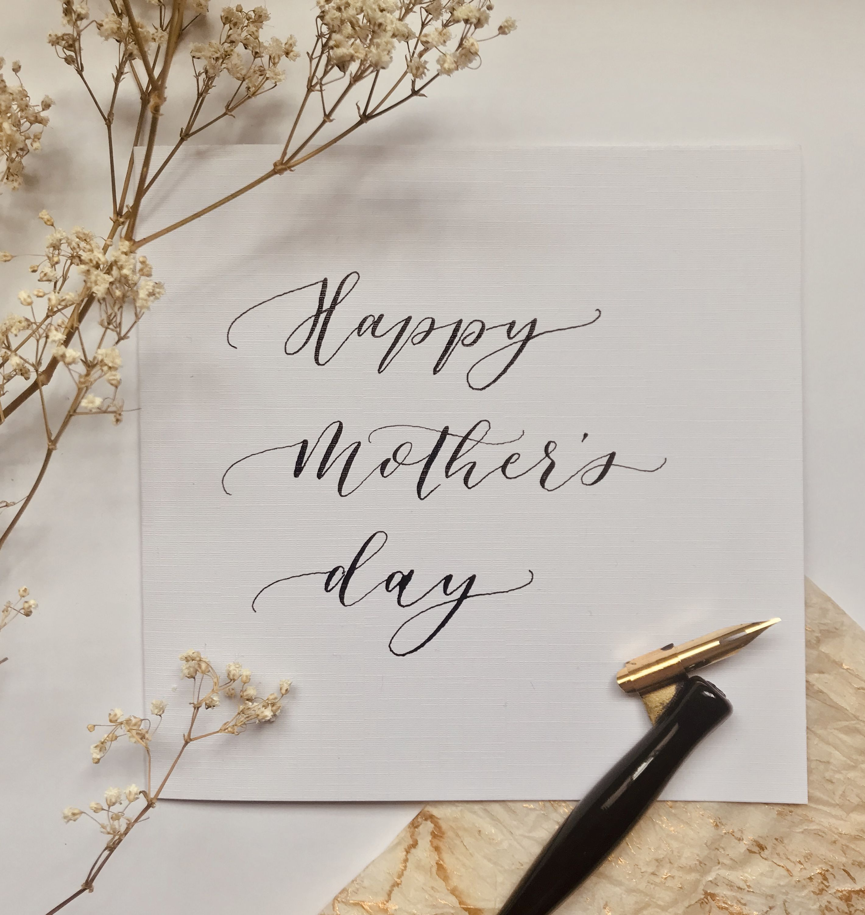 Calligraphy Happy Mother S Day Hand Written Card Hand Made Crafts Mothers Day Gifts Elegant Card Happy Mother S Day Calligraphy Elegant Cards Happy Mothers Day
