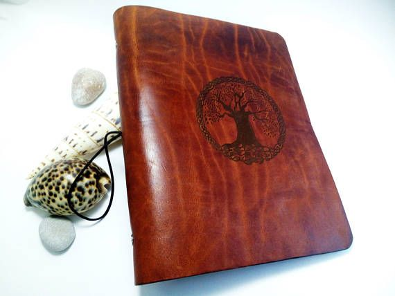 Wicca Tree of Life Leather Journal Cover Refillable Classic