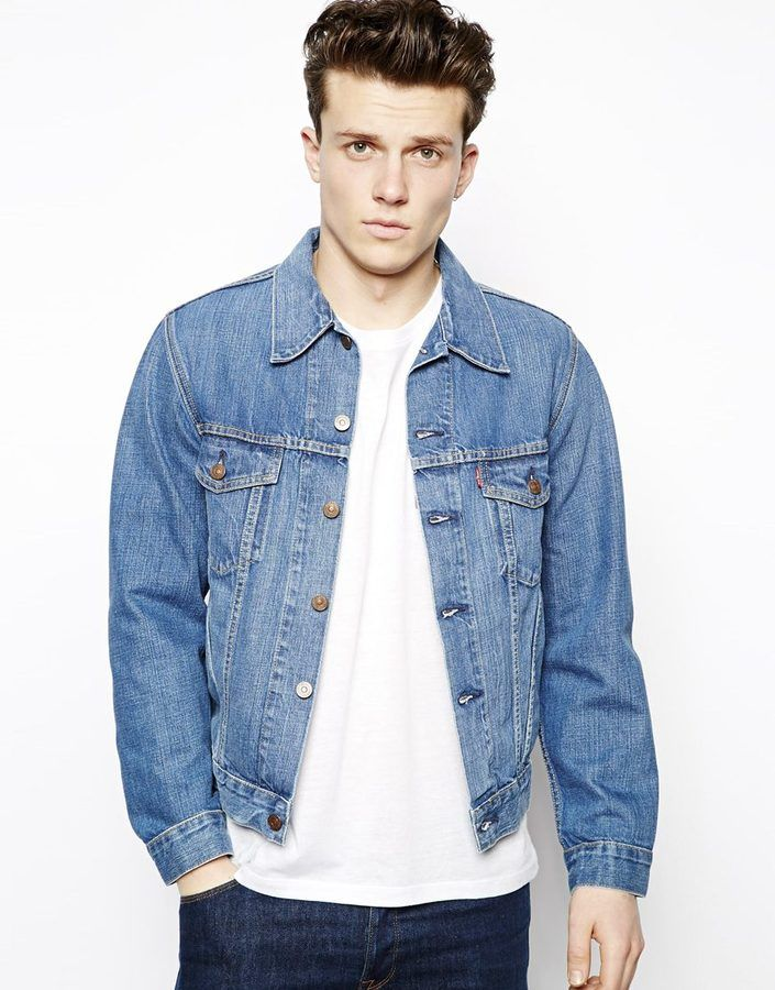 Levis Vintage Denim Jacket 1967 Type Iii Trucker Jacket Embroidery ...