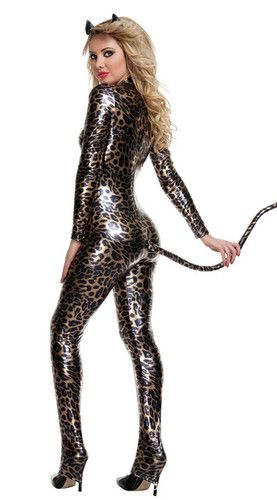 bdde1def89e0 Sexy Skintight Catwoman Leopard Costume Halloween Party Lady Cosplay  Uniform Hot