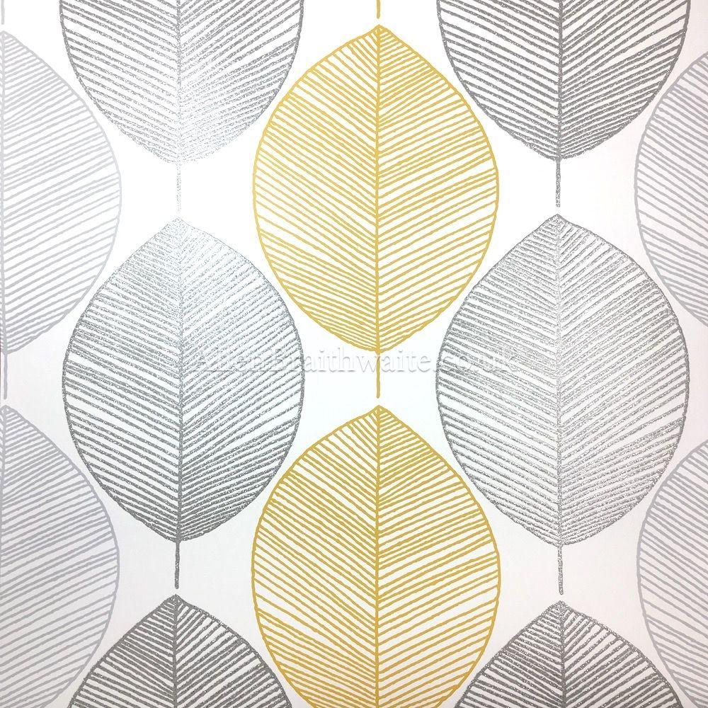Arthouse Scandi Leaf Yellow Wallpaper 298401 Wallpaper