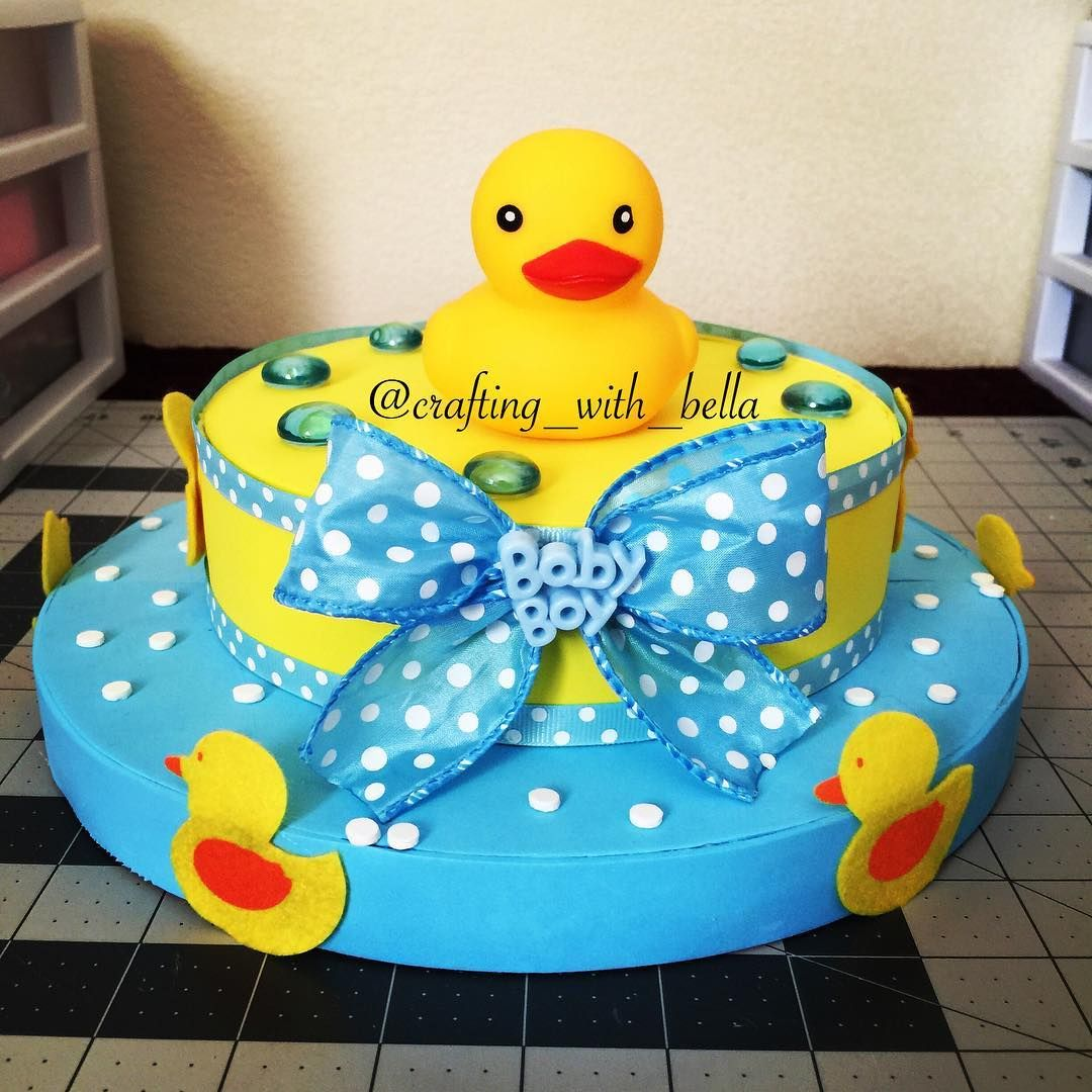 Duck baby shower center piece centro de mesa para baby - Mesa de baby shower nino ...