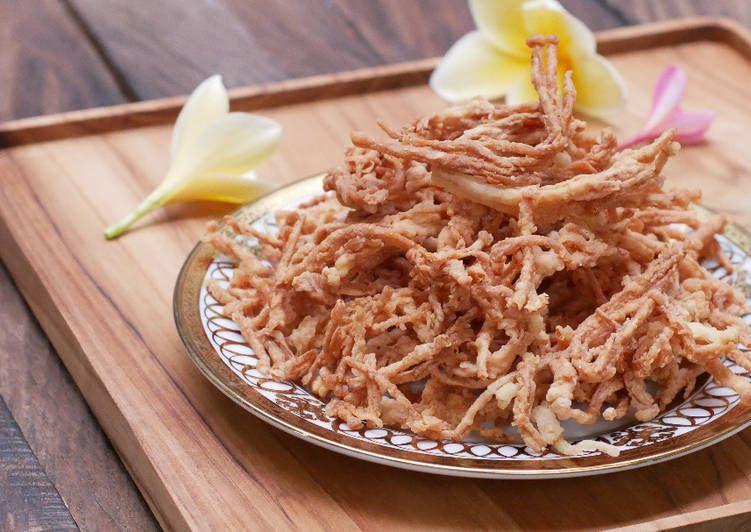 Jamur Enoki Crispy Masakan Resep Masakan Masakan Simpel