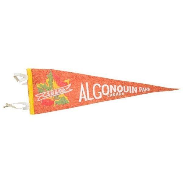 Vintage Algonquin Park, Canada Felt Flag Banner (34 CAD) ❤ liked on ...