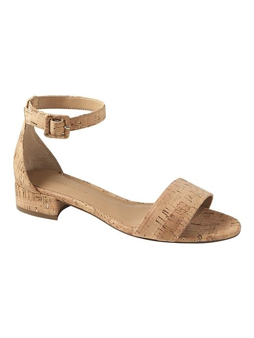 ebed0f65f Banana Republic Womens Low Heel Sandal Natural Cork With Rose Gold ...