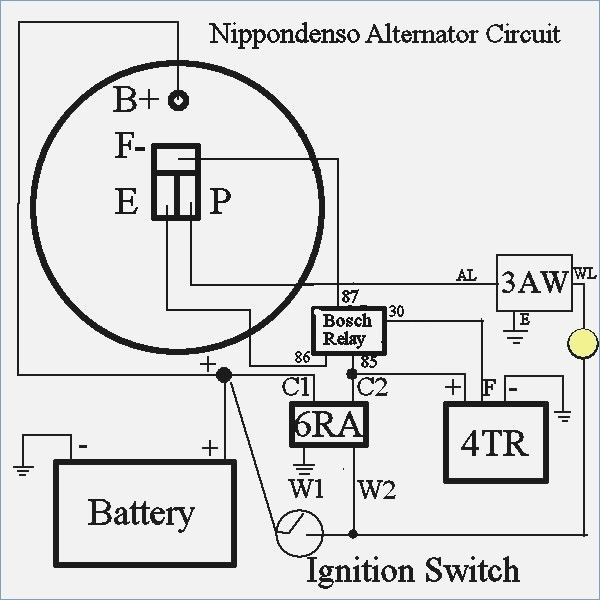 Wiring Diagram Nippondenso Alternator Circuit Diagram And