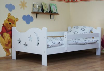 Buy Camila Moon Stars Toddler Bed White Pocket Sprung Mattress From Our Beds