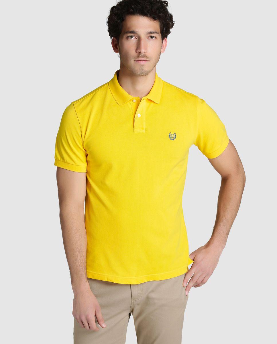 Polo piqué de hombre Chaps básico amarillo de manga corta · Chaps · Moda ·  El 8743ea6ccba74