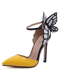 Newest Point Toe Stiletto Heel Butterfly Dress Sandals - Shoespie.com