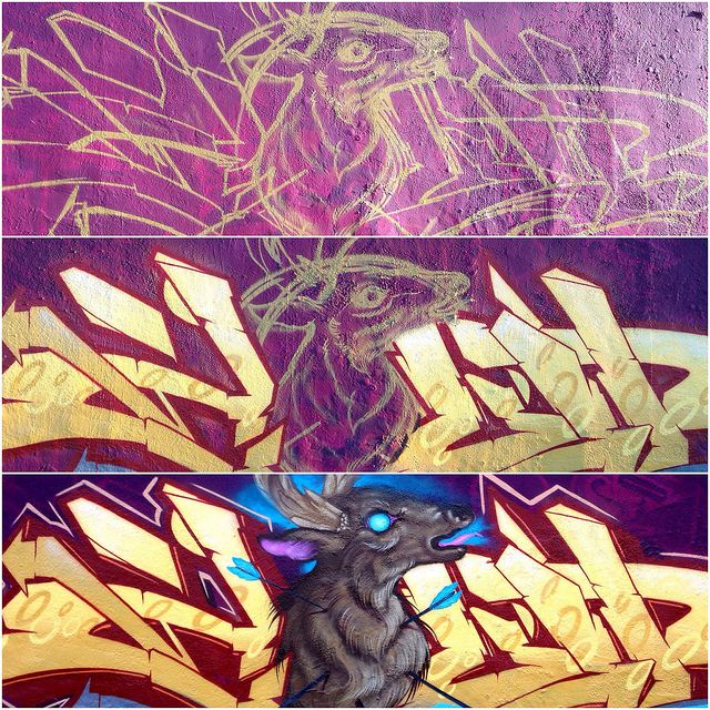 by @colorsoner713 @graffalot 09-2013 Houston Graffiti process | Flickr - Photo Sharing!