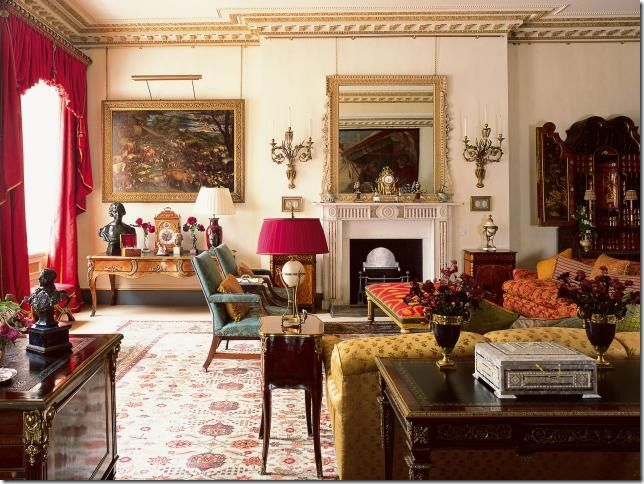 robert kime garden room at clarence house i n t r i e u r pinterest. Black Bedroom Furniture Sets. Home Design Ideas