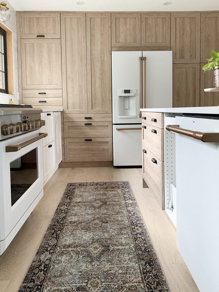 Everything You Need To Know About Using Semihandmade Fronts With Ikea Cabinets And Our Cove Line In The Fullmer Kitchen White Kitchen Appliances Kitchen Design Trends Kitchen Cabinet Trends