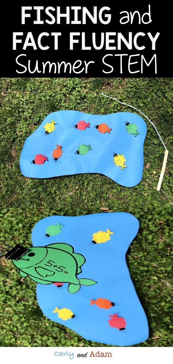 Summer STEM Activity: Fishing for Math Fact Fluency STEM Challenge ...