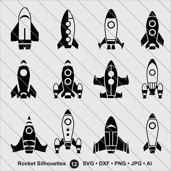 Rocket Silhouettes Svg Rocket Clipart Bundle Svg Rocket Svg Etsy In 2021 Clip Art Rocket Ship Tattoo Rocket Tattoo