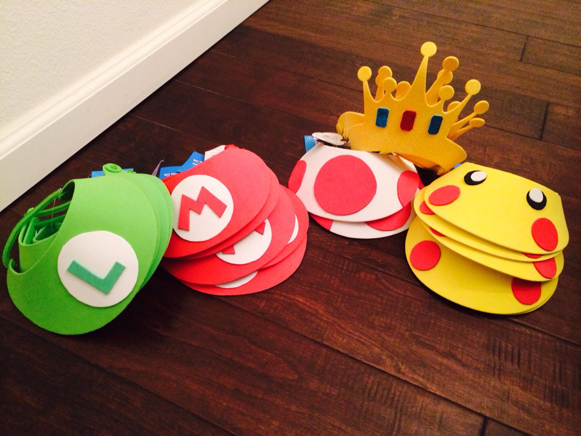 DIY Party Visors for our Super Smash Brothers Party Super Smash