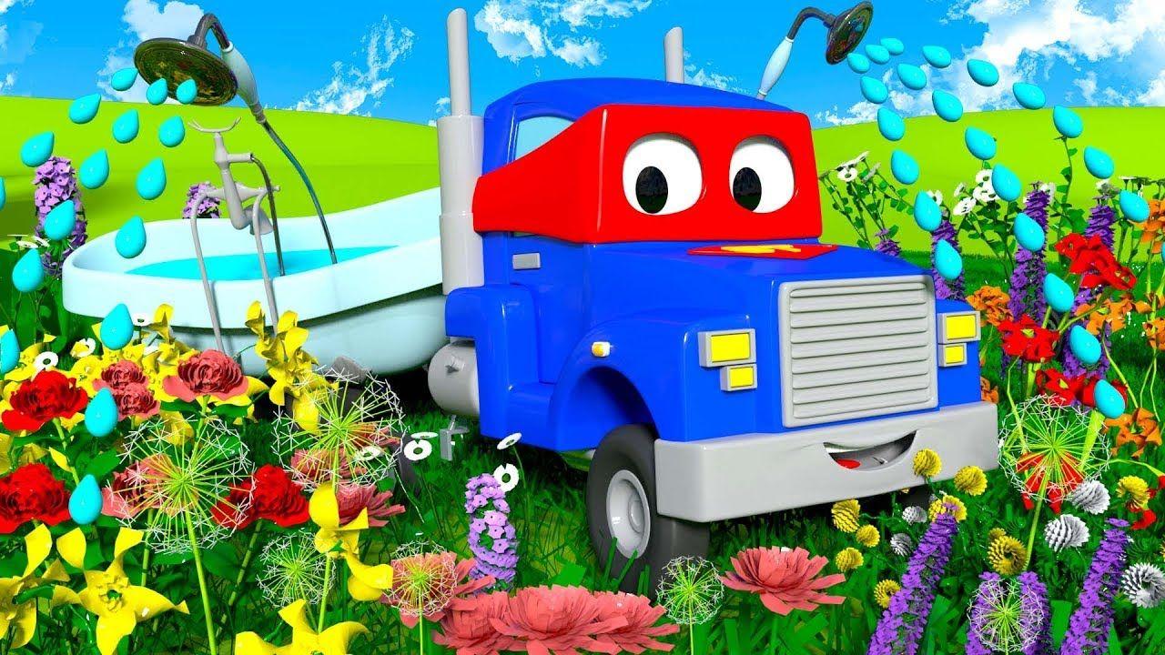 o caminhão de jardinagem carl o super caminhão na cidade do carro