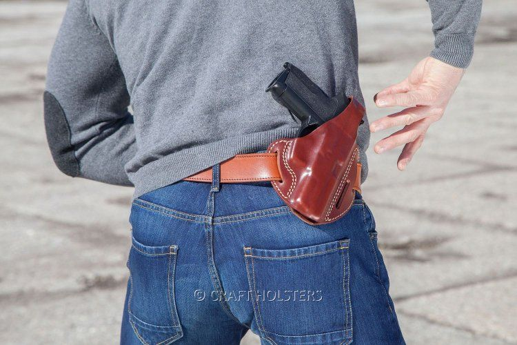 The Craft Holsters Leather Pancake Holster Is Designed To Be Carried Outside The Waistband Either 3 Or Leather Pancake Holster Leather Holster Pancake Holster