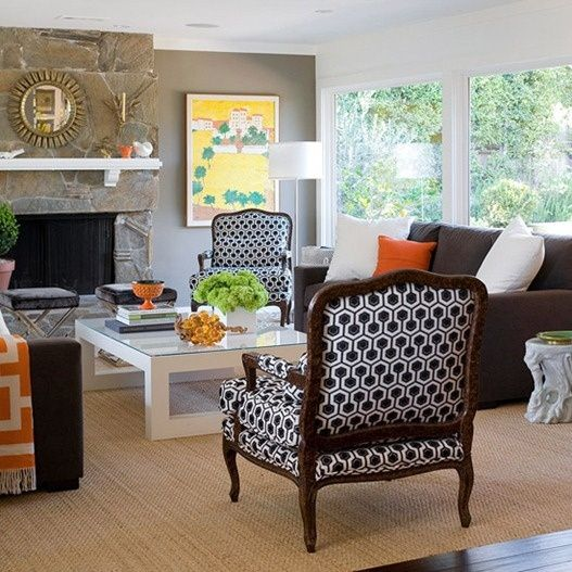 Five Ways To Decorate With A Brown Sofa Add Accent Chairs That