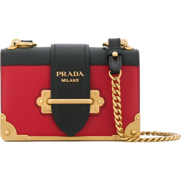 e810edf2a9be Prada Cahier shoulder bag (7 940 PLN) ❤ liked on Polyvore featuring bags