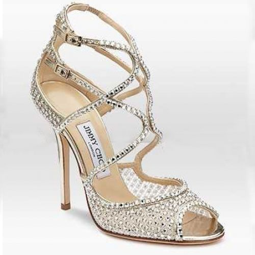 Jimmy Choo Diamante Embellished Mesh Sandal Gold is a fashion style hot  sale in this season