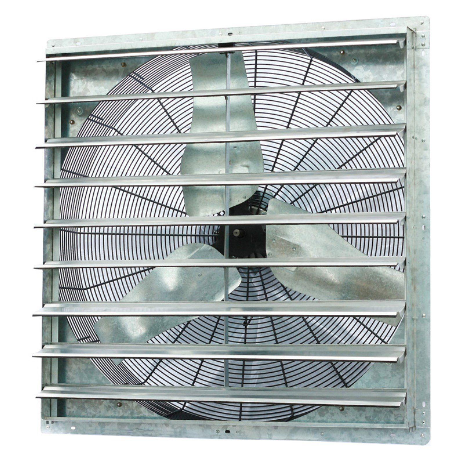 wall mount shutter exhaust fan