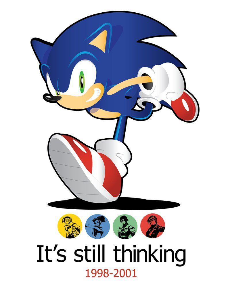 Sega Dreamcast It S Still Thinking By Linkabel32 Sonic The Hedgehog Sonic Sonic Art