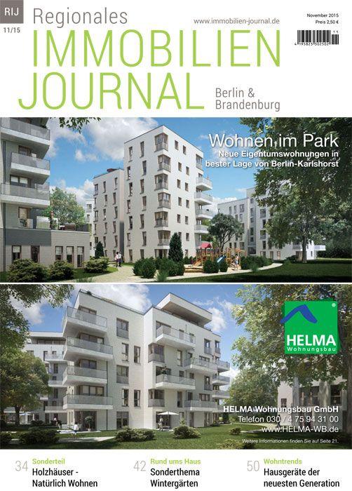 Die NovemberAusgabe des Regionale Immobilien Journals