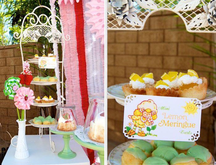 very cute idea a dessert for each characterMini Lemon Meringue