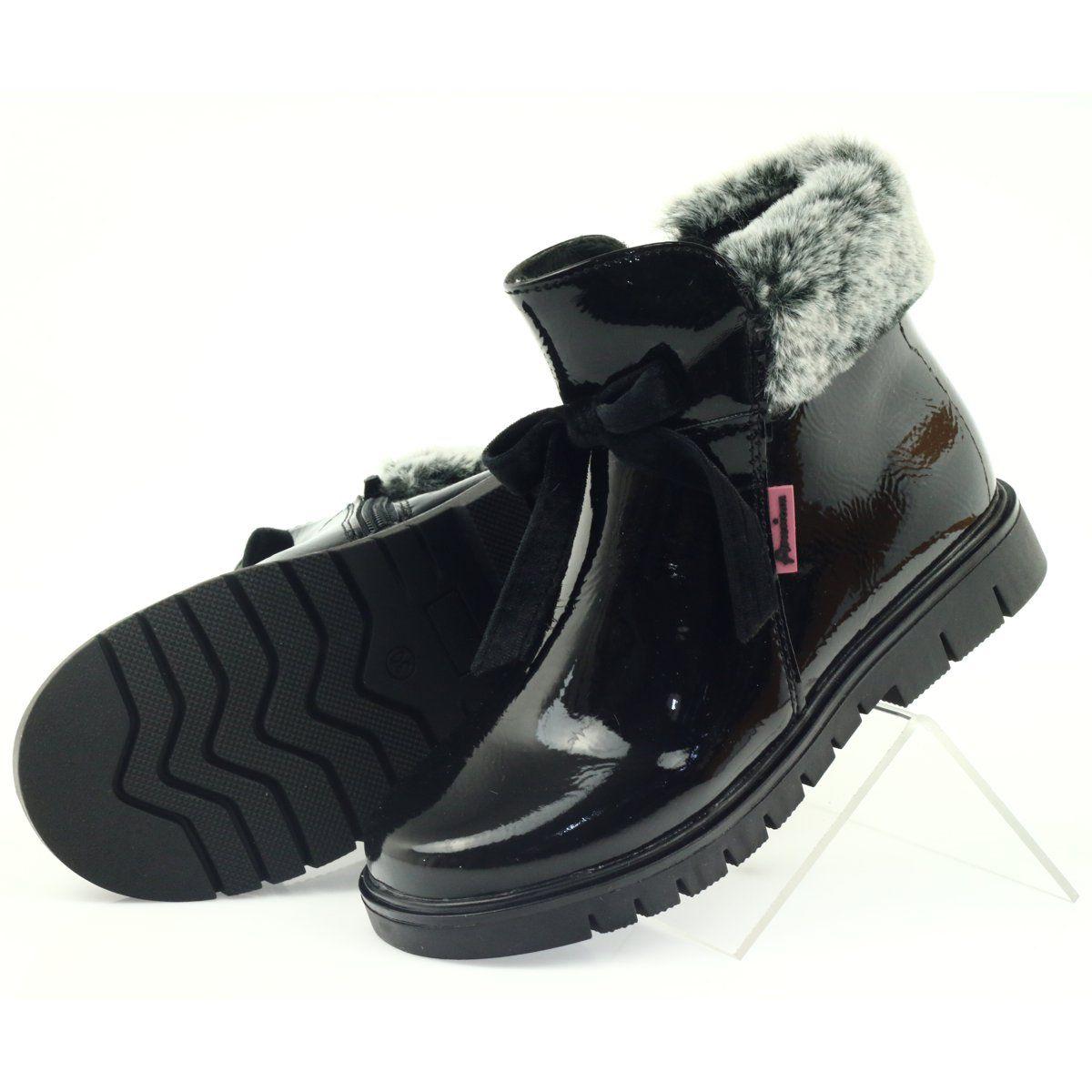 American Club American Kozaki Botki Buty Zimowe 18015 Czarne Boots Shoes Winter Boot