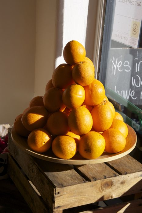Oranges In A Greengrocers Window In Bungay Suffolk With Images Food And Drink Food Eat