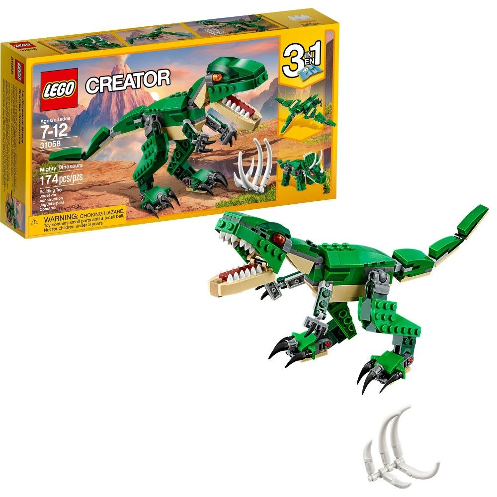 Lego Creator Mighty Dinosaurs 31058 Build It Yourself Dinosaur Set
