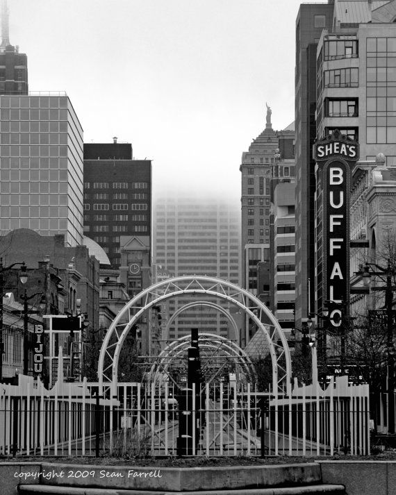 Downtown Buffalo Photography Print Buffalo Ny Art By Quakerstudio 20 00 Buffalo City Buffalo Art Buffalo New York