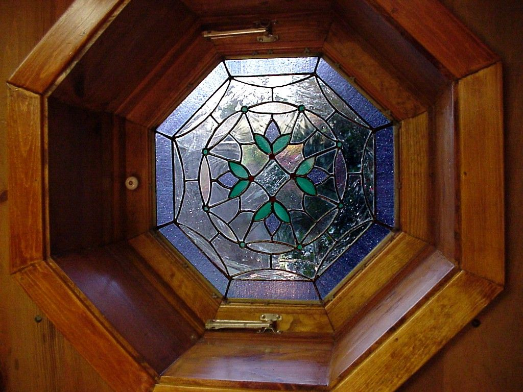 stained glass for octagonal window | Outside | Pinterest ...