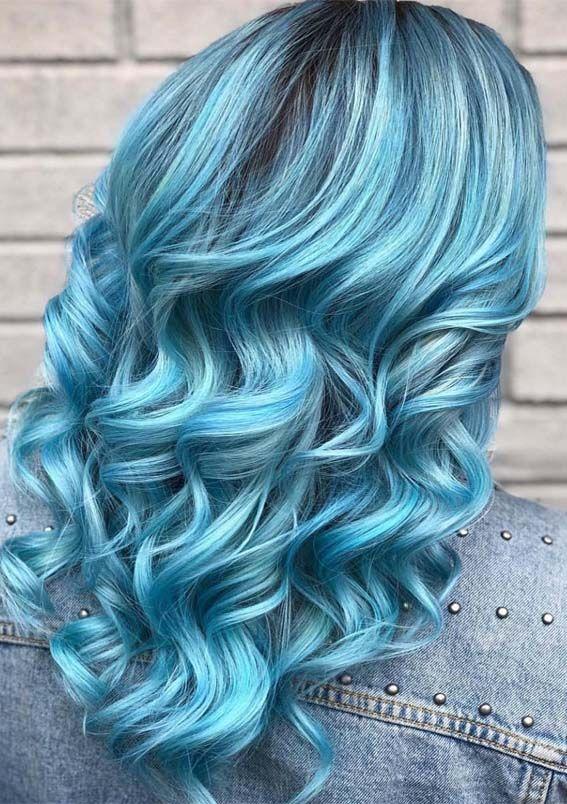том, все оттенки синего волос фото винчи