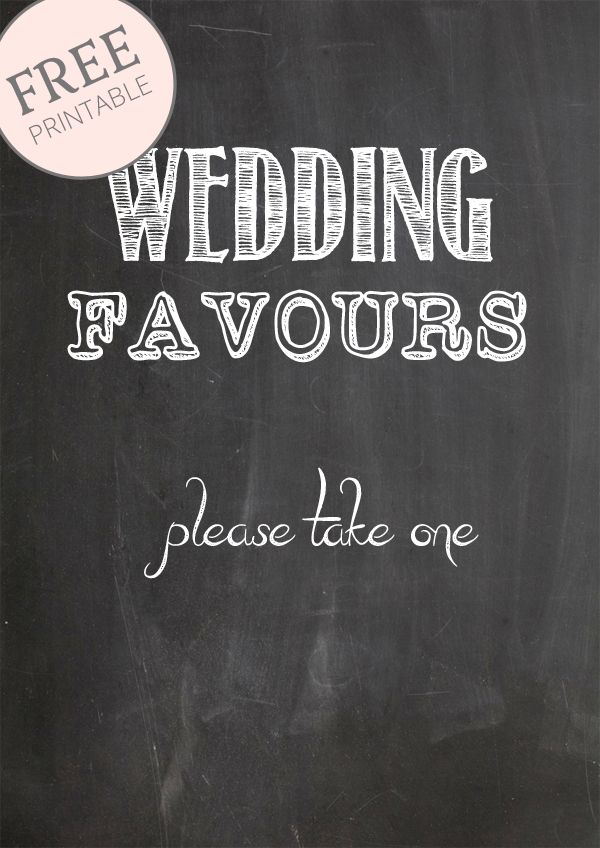Free Printable Chalkboard Signs Wedding Favours