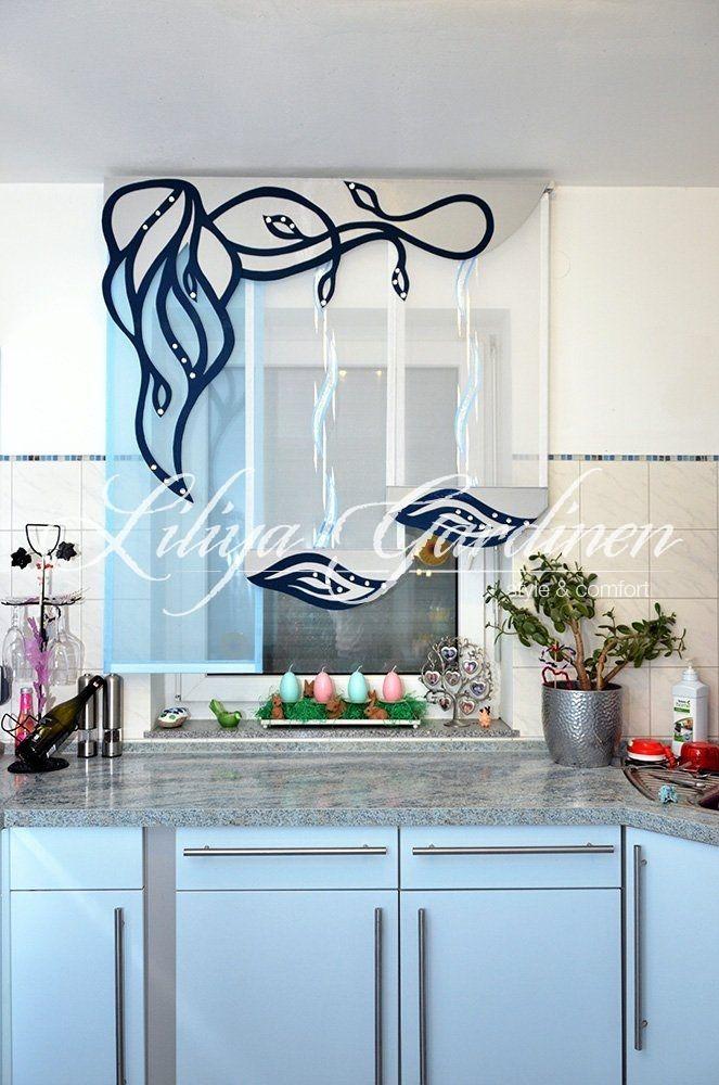 Fensterdekoration Gardinen Beispiele Für Küche ...