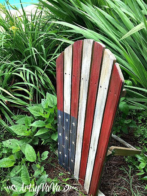Artsy VaVa: Broken Adirondack Chair Makeover