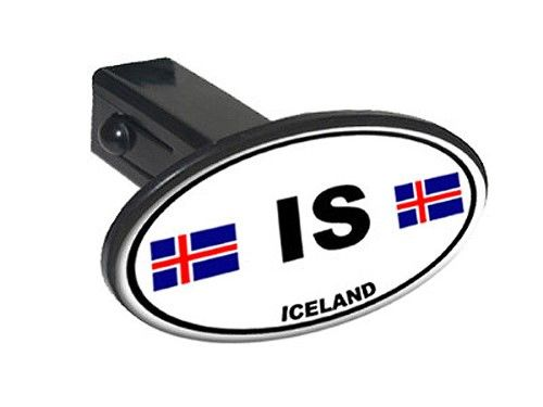 Is Iceland Country Euro Auto Oval Oval Tow Hitch Cover Black