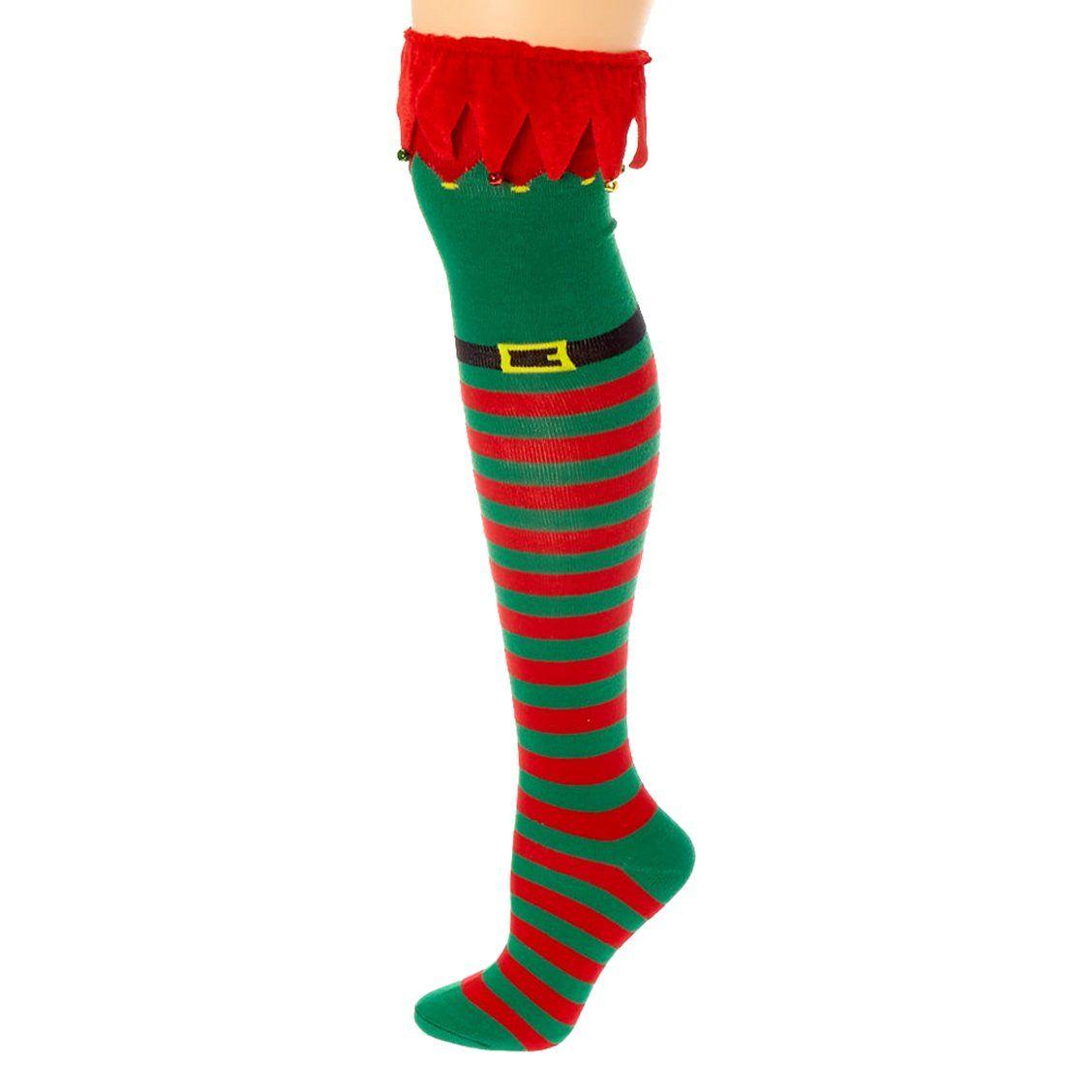 Children/'s Girls Cotton Socks Angel Elf Wings Design Elf Long Knee Stockings OY