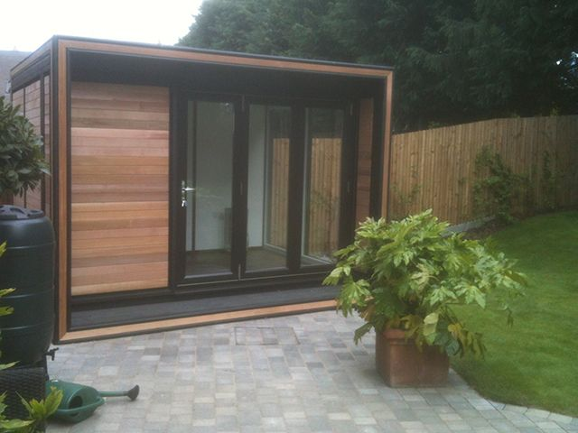 smart garden office. Smart Garden Offices Have Used High Spec Cutting Equipment To Inset The Cedar Detail Into Office