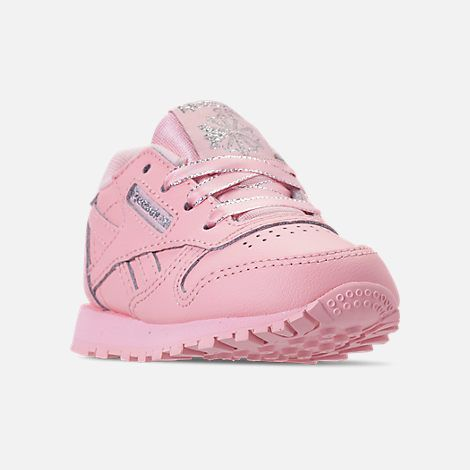 d89f46b61183b1 Three Quarter view of Girls  Toddler Reebok Classic Leather Casual Shoes