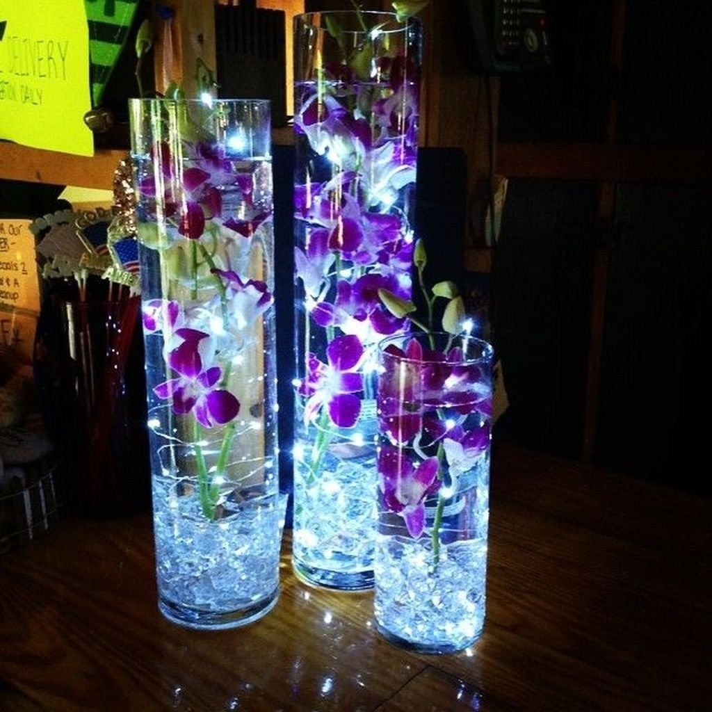 30 Inspirational Decorations With Led Lights Purple Wedding Centerpieces Wedding Centerpieces Wedding Decorations