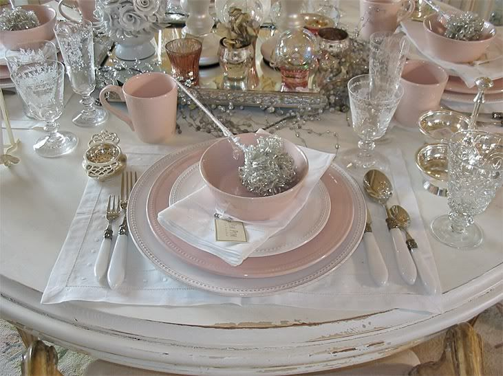Photo Via Pink Table Settingsbeautiful Settingsplace Settingsshabby Chic